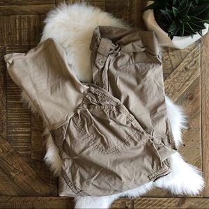 MOTHERHOOD MATERNITY Tan Roll Up Cargo pants